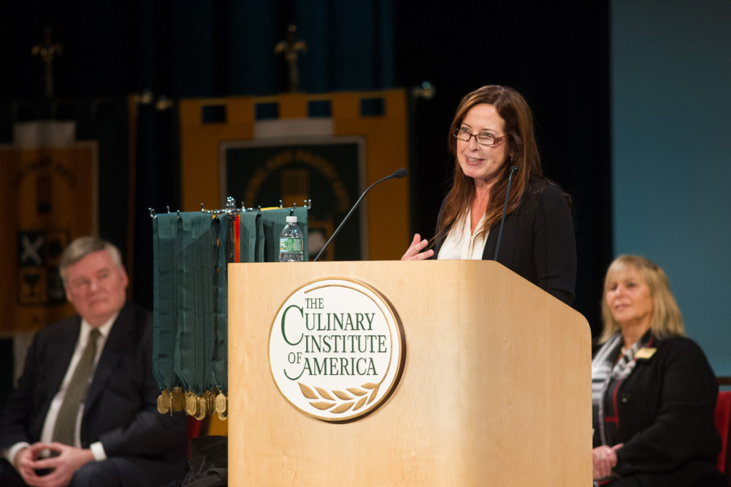 Chef Debra Ponzek Delivers Commencement Address at The Culinary Institute of America
