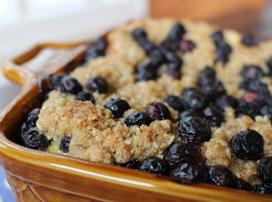 Blueberry Streusel French Toast