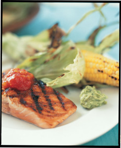 Grilled Salmon From Aux Delices