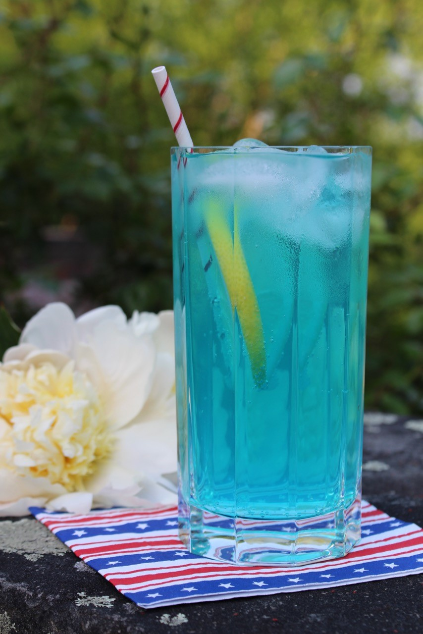 Electric Blue Lemonade Drink Recipe Chef Debra Ponzek