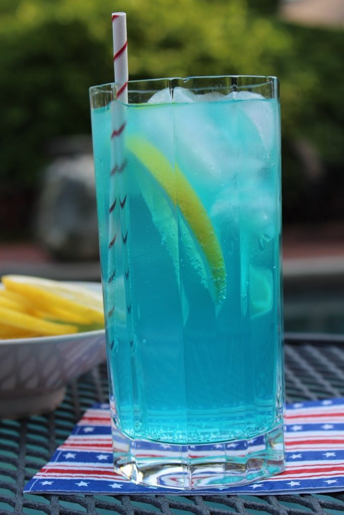 Refreshing Electric Blue Lemonade