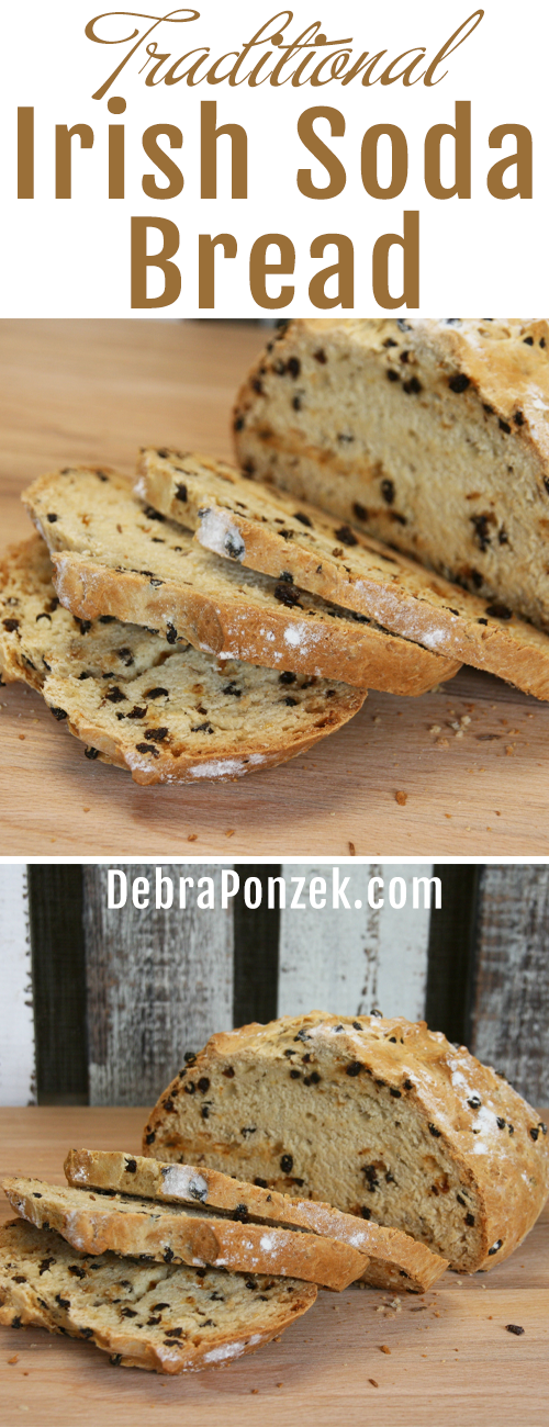 Most bread recipes use yeast in order to rise, but Irish soda bread uses baking soda instead. That's where we get the name from, the baking soda.