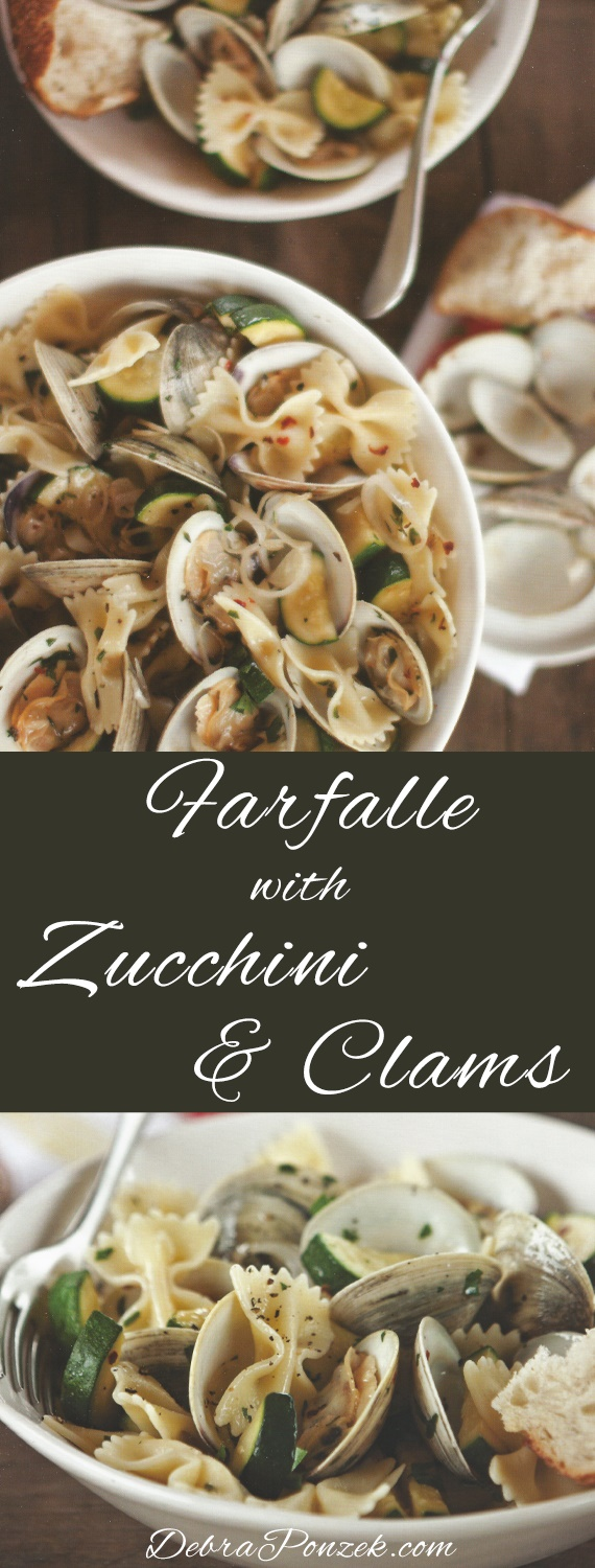 Bringing Italy home is easy when you ave the right recipes, like Farfalle Pasta. If you add clams and zucchini, then you have one of the best Farfalle Pasta with Zucchini and Clams recipe.