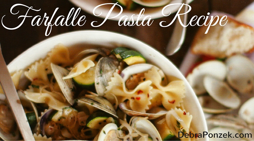 Farfalle Pasta with Zucchini and Clams Recipe