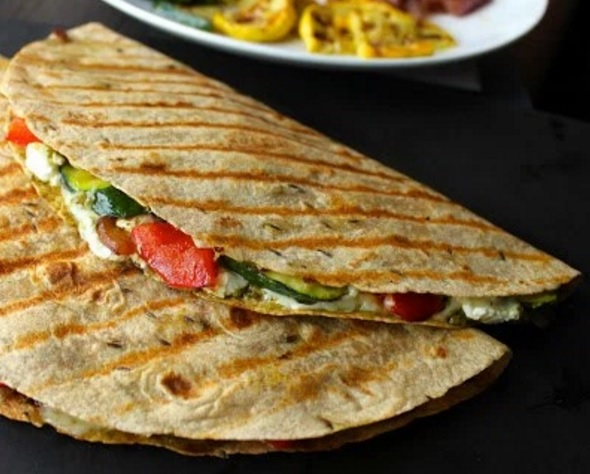 Grilled Vegetable Quesadillas With Goat Cheese and Pesto Mouthwatering Grilling Recipes