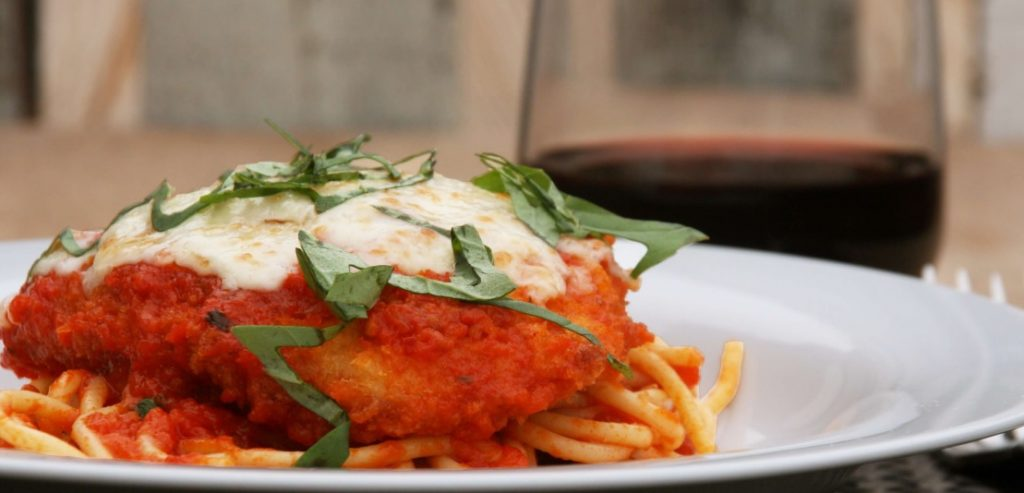 Chicken Parmesan Over Pasta