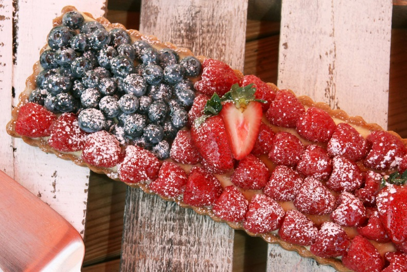 Flag Fruit Tart Serving
