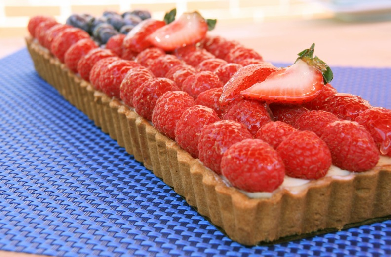 Flag Fruit Tart Side View