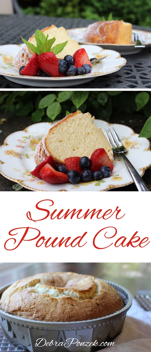 Cooking the perfect summer pound cake also means enjoying the perfect summer dessert, just add ice cream and you've got a frozen treat.
