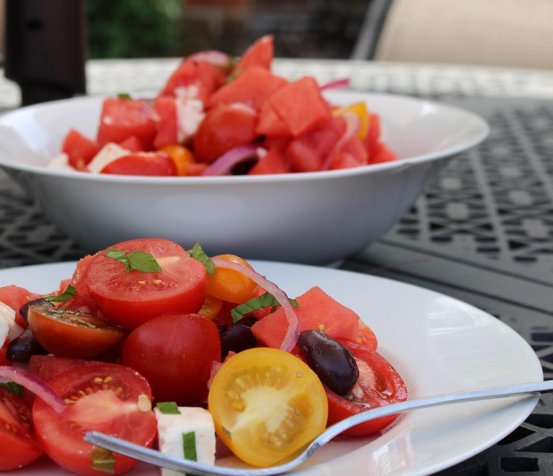 Watermelon Feta Salad Recipe Plated