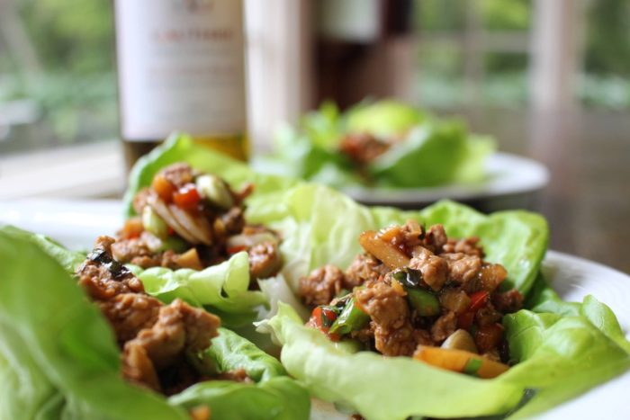 Asian Chicken Lettuce Wraps Dish