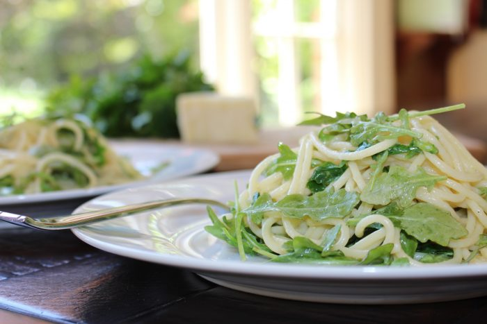 Spaghetti With Arugula and Parmesan Salad Recipe To Enjoy