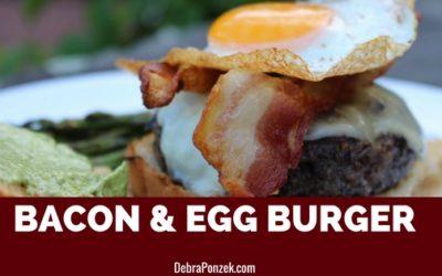 Bacon Egg Burger With Pesto Mayonnaise