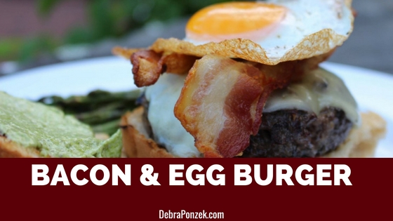 Bacon Egg Burger With Pesto Mayonnaise