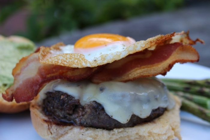How to Stack Bacon Egg Burger