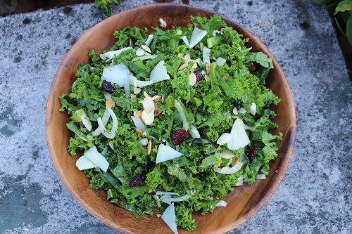 Serving The Best Kale Salad Recipe