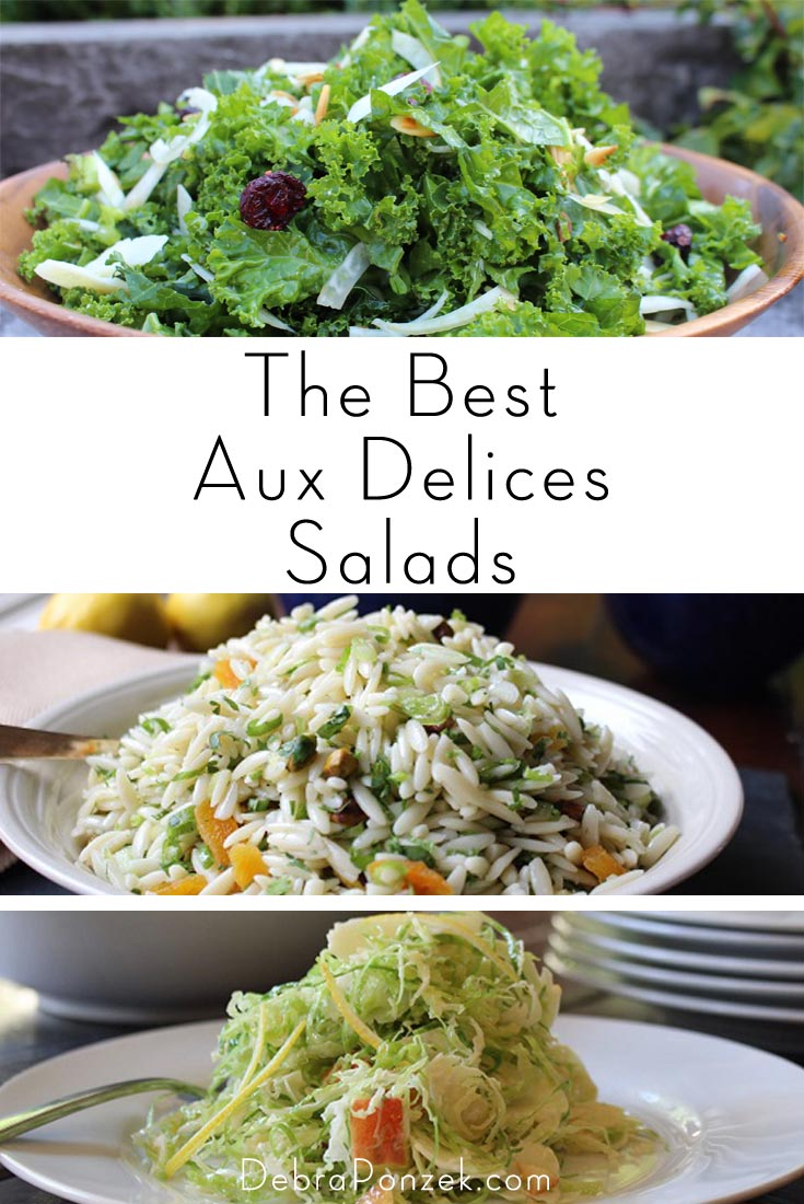 Aux Delices salads have become famous for the locals lucky enough to try them but now even if you aren't a local you can make them yourself.