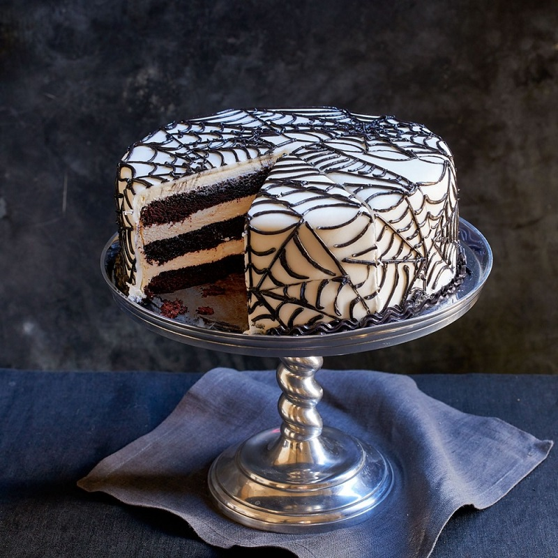 Aux Delices Foods has the Halloween treat that won't be handed out at the door but everyone wants the Dean and Deluca Halloween Spider Web Cake.
